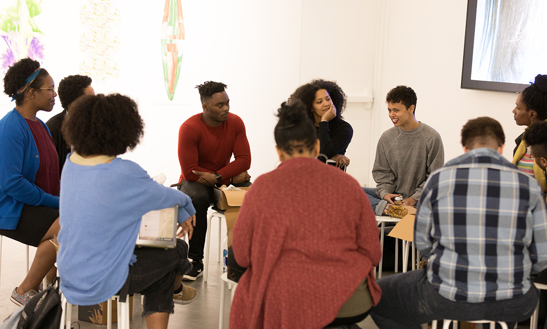 Discussion with faculty in the Black Embodiment Studio