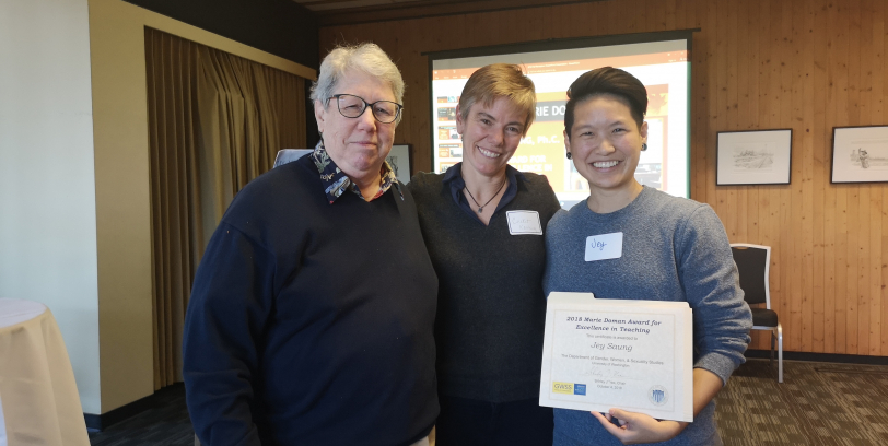 GWSS Graduate Student, Jey Saung, receives Marie Doman Award for Excellence in Teaching