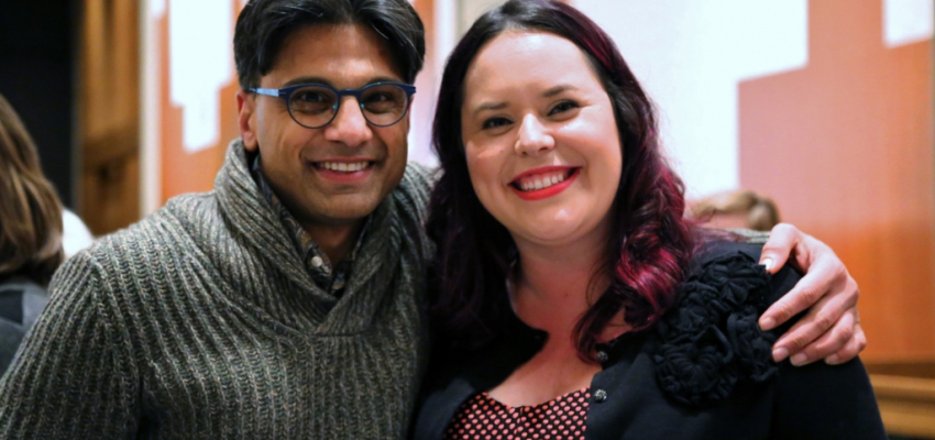 Professor Chandan Reddy with PhD Candidate Monica De La Torre