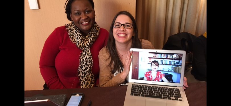 GWSS Alumnae Manoucheka Celeste, PhD and Noralis Rodriguez-Coss, PhD at 2017 NWSA