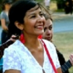 Iris Viveros performs in Roads to Reconciliation at Seattle Pacific University