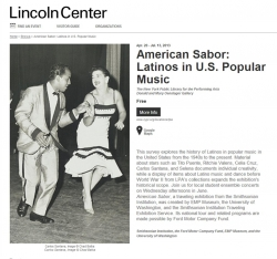 American Sabor announcement in the paper