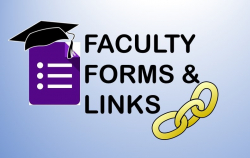 Faculty forms and links