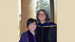 PhD Graduate Shuxuan Zhou with Advisor Sasha Welland, PhD