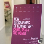 New Geographies of Feminist Art conference sign